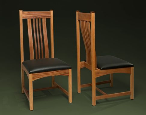 Custom Made Mahogany Dining Room Chair With Lumbar Support