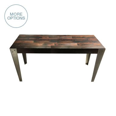 Custom Made Reclaimed Wood And Hand Welded Steel Industrial Table