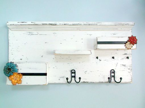 Custom Made Rustic & Shabby Entry And Foyer Organizers With Coat And Key Hooks