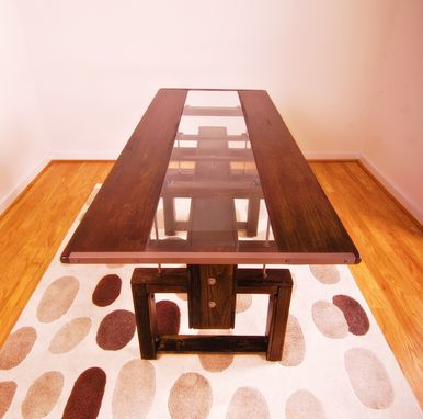 Custom Made Custom Industrial Contemporary Eclectic Dining Coffee Table
