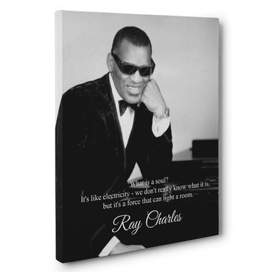 Custom Made Ray Charles Motivation Quote Canvas Wall Art