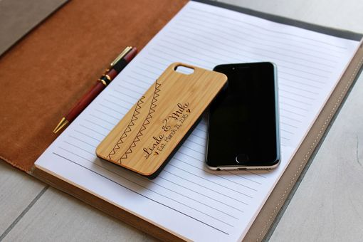 Custom Made Custom Engraved Wooden Iphone 6 Case --Ip6-Bam-Linda Mike