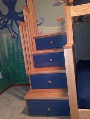 Custom Made Custom Childrens Bedroom Set And Bunk Beds W/Stairs