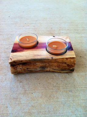 Custom Made Aromatic Red Cedar Candle Holder