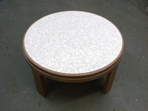 Custom Made Eggshell Round Table