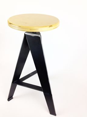Custom Made Windmill Bar Stool (Raw Steel)