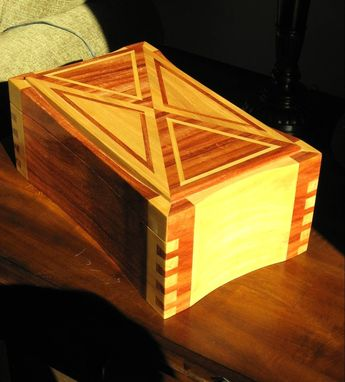 Custom Made Exotic Hardwood Tabletop Humidor