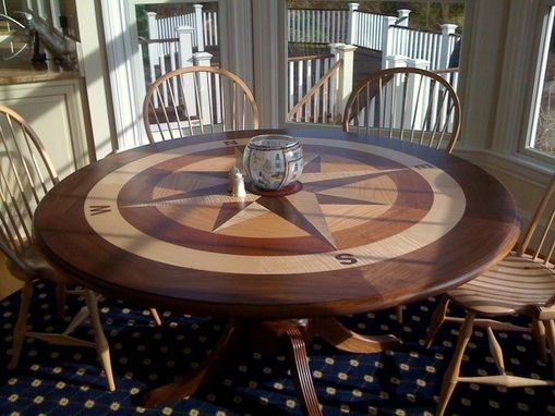 Hand Crafted Compass Rose Table By Clearlake Furniture