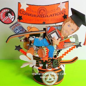 Graduation Birthday Cake Topper For Men High Shool College