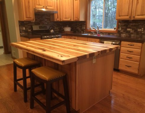 Custom Made Solid Hickory Bar Top / Island Top