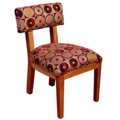 Custom Made Wood Chair With Upholstered Seat & Back