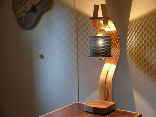 Custom Made Reclaimed Bent Wood Table Lamp