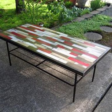 Custom Made Reclaimed Wood Table Painted