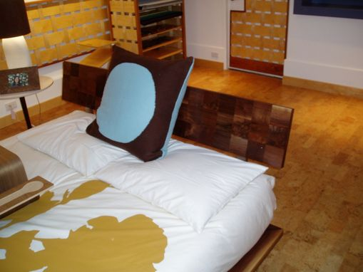 Custom Made Modern Walnut Platform Bed