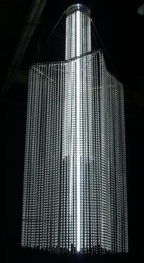 Custom Made Glass Tube Chandelier