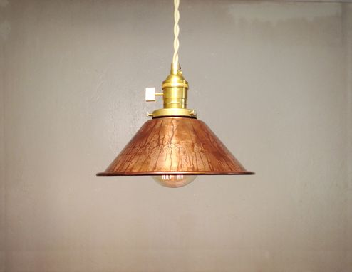 Custom Made Weathered Copper Pendant Edison Loft Lamp - Vintage Industrial Hanging Light - Mix And Match
