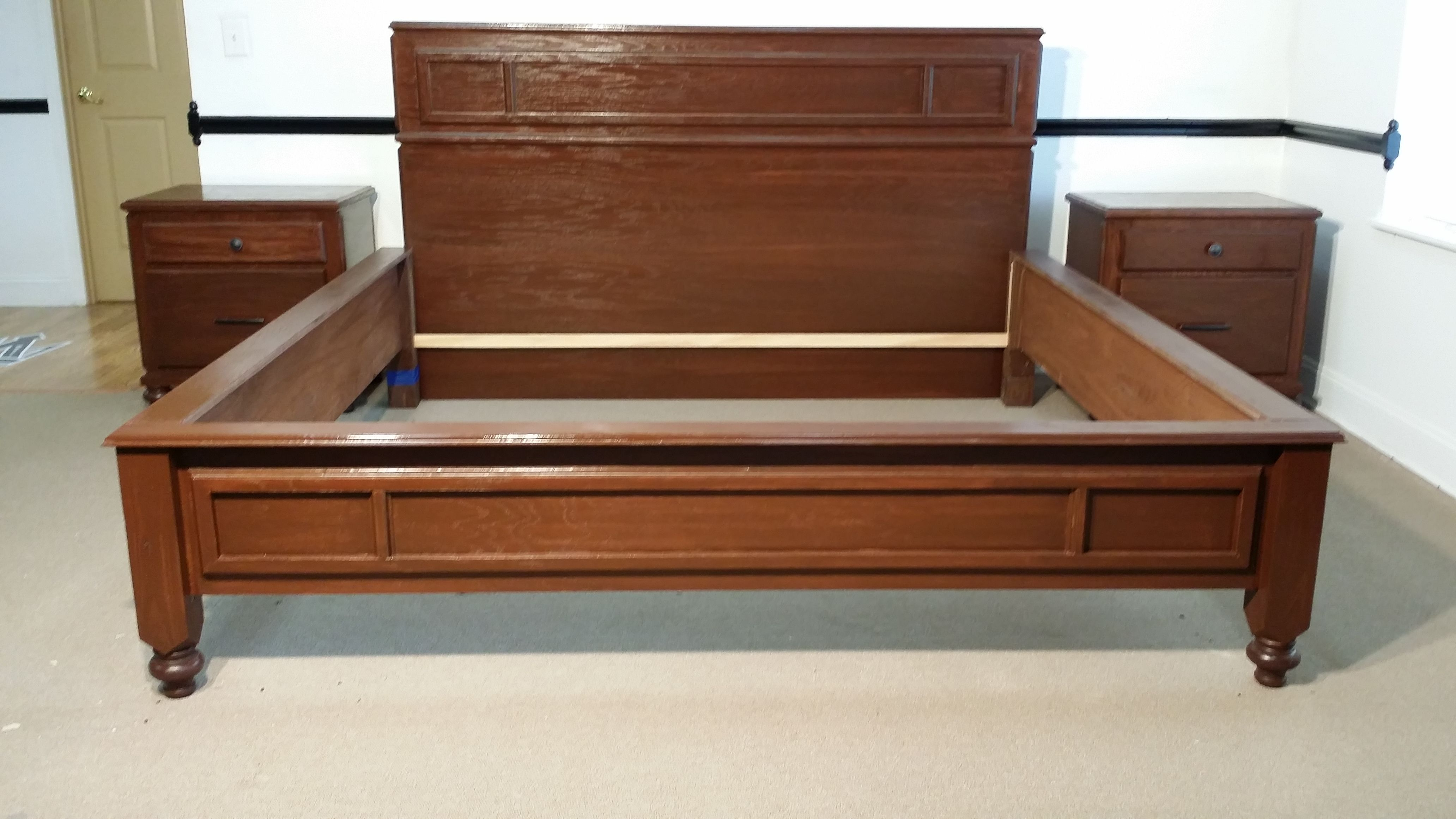 Buy a custom 5 piece oak bedroom set made to order from mccorkle designs for Custom made bedroom furniture