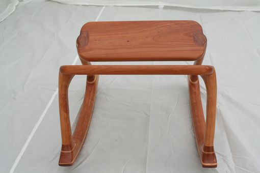 Custom Made Cherry Rocking Footstool - Shipping Included