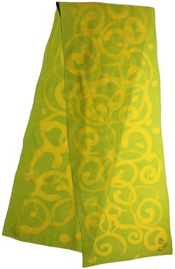 Custom Made Allover Swirl Chartreuese & Yellow Scarf