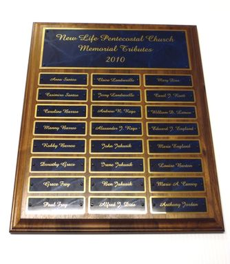 Custom Made Laser Engraved Perpetual Plaque