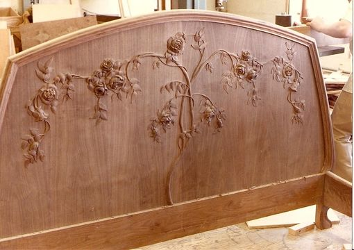 Custom Made Art Nouveau Mahogany Bed