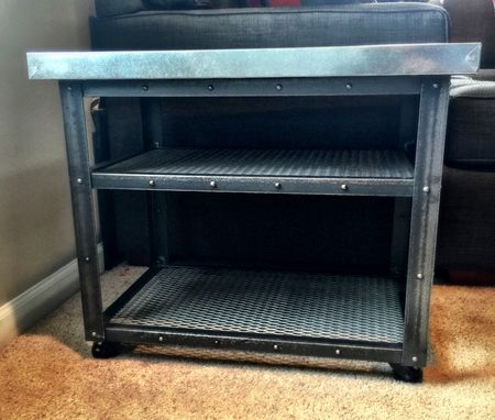Custom Made Industrial End Table