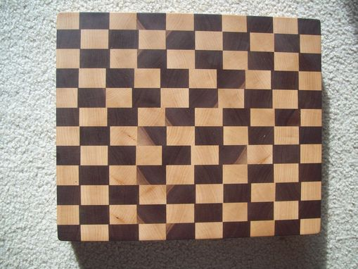 Custom Made Walnut Maple End Grain Board