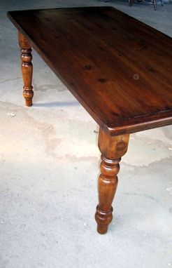 Custom Made Farm Tables With Antique Walnut Finish