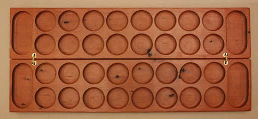 Custom Made Bao Board - An African Game Similar To Mancala