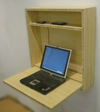 Custom Made Modern Secretary In Plyboo