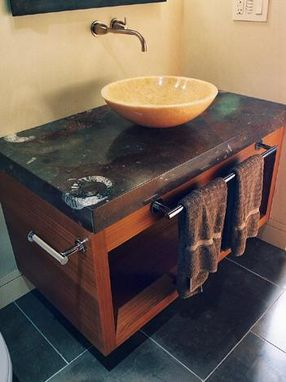 Custom Made Afromosia Vanity