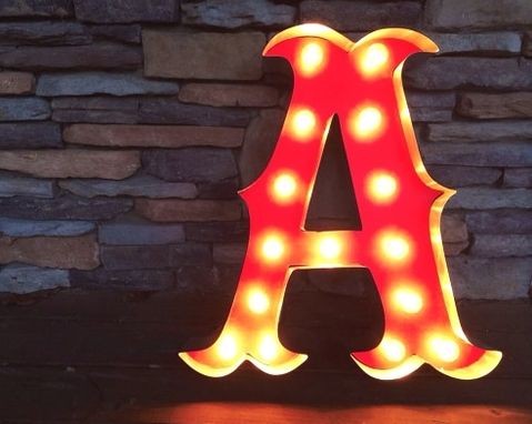 Custom Made Vintage Marquee Letters - Circus Style