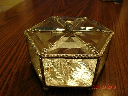 Custom Made Stained Glass Beveled Triangled Hinged Box