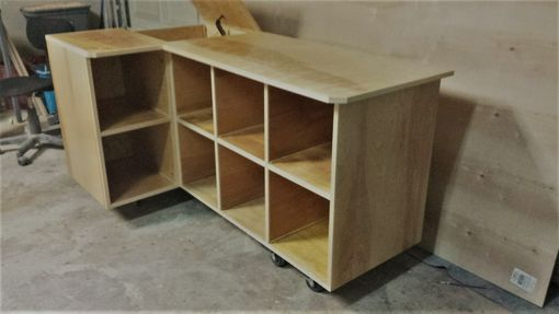 Custom Made Toy Storage With Cubbies And Box