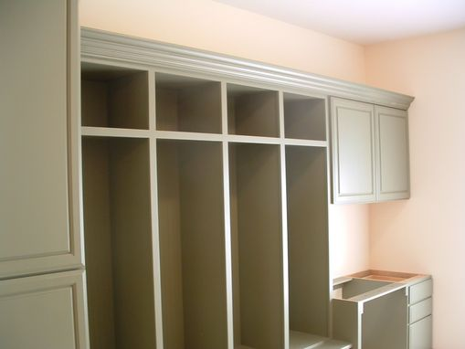 Custom Made Cubby/Laundry Room Cabinet