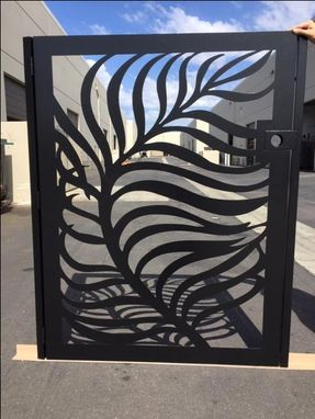Custom Made Contemporary Leaf Metal Art Tree Gate Sale Iron Garden Estate Modern Iron