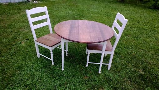 Custom Made Round Red Oak And Poplar Dinette