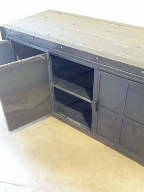 Custom Made Metal Credenza / Sideboard / Media Cabinet (Industry)