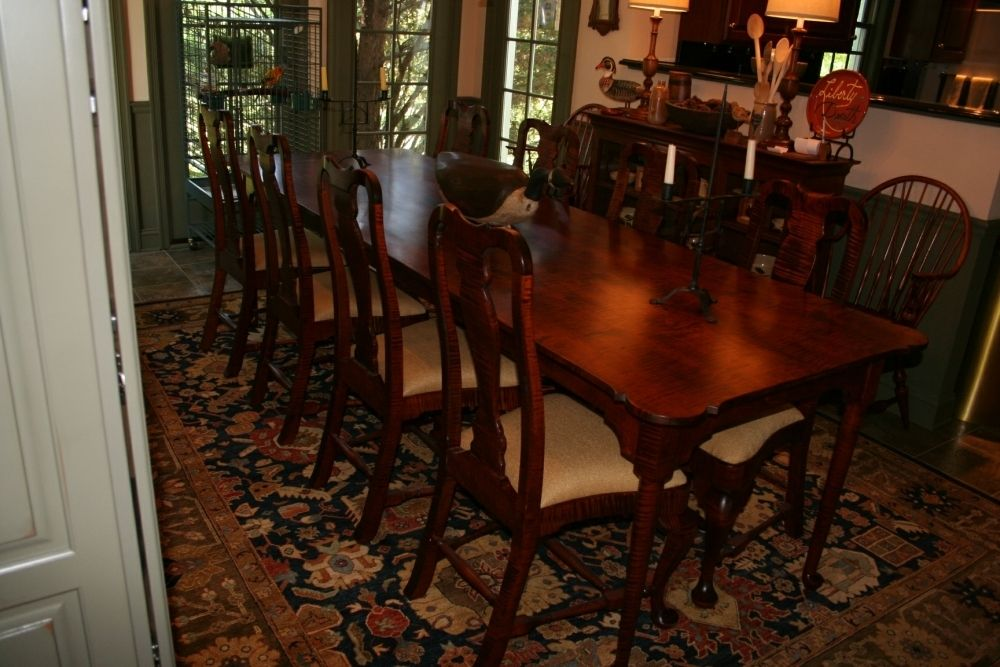 hand crafted curly maple queen anne chairs by spring valley