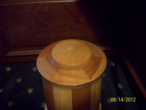 Custom Made Segmented Turned Cremation Urn
