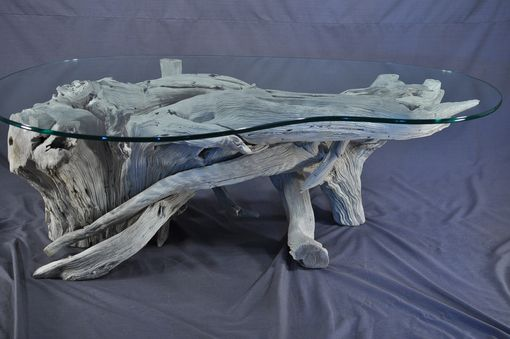 Custom Made Sun Bleached Driftwood Coffee Table