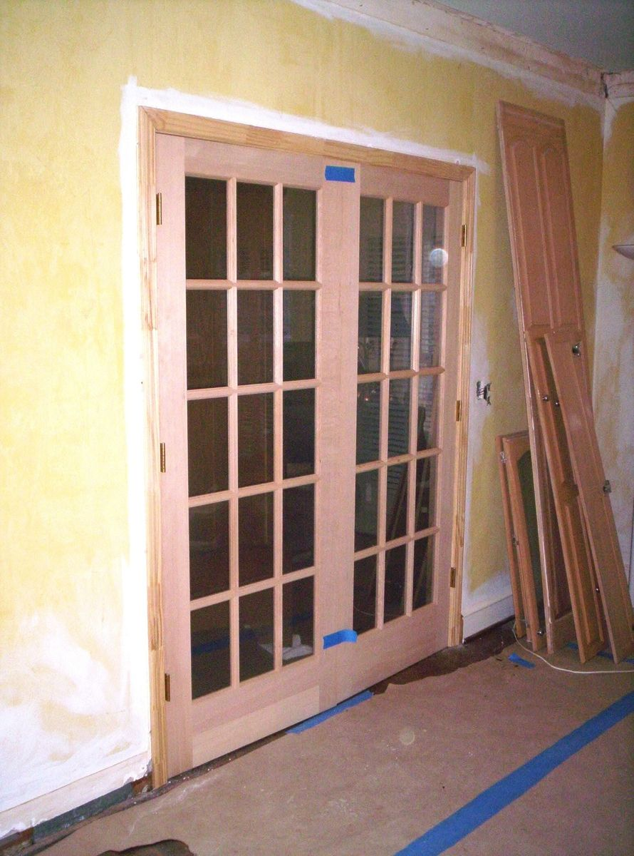 Hand Crafted Stain Grade French Door Install By Blue Ridge Woodworks