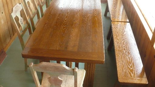 Custom Made Custom Red Oak Dining Table