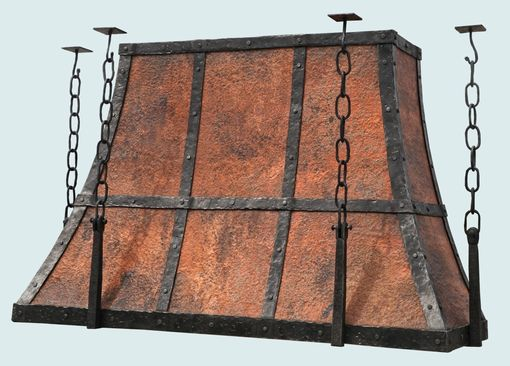 Custom Made Copper Range Hood Made With Hot Forge