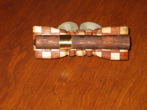 Custom Made Bow Tie - Cigar In Wood