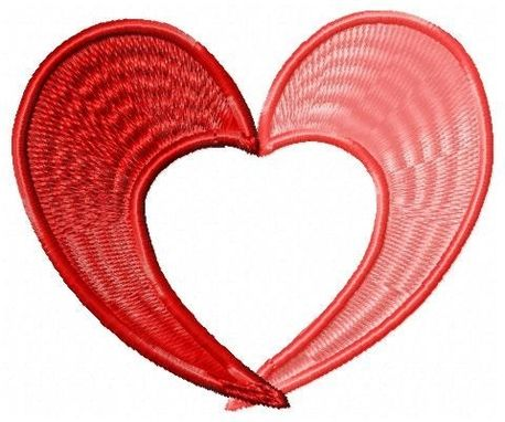 Custom Made Heart Embroidery Design
