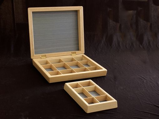 Custom Made Jewelry Box In Ash, Dyed Koto, And Ebony