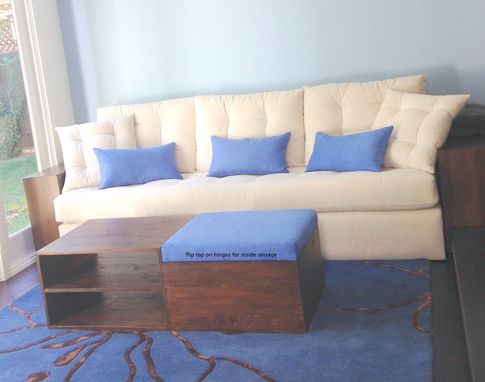 Custom Made Plush 5 Star Sofa.  Maximum Comfort W/ Wide Reclaimed Wood Arms