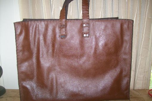 Custom Made Custom Leather Tote Bag