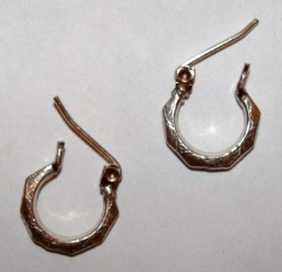 Custom Made Small Victorian Inspired Etched Hoop Earrings